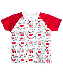 Chic Bambino Tee Away We Go Design - White & Red