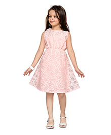 K&U Party Dress Floral Design - Peach