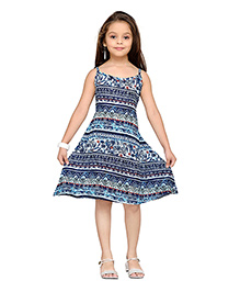 K&U Singlet Dress Multi Print - Navy Blue