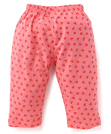 Tango Full Length Bow Printed Leggings - Coral