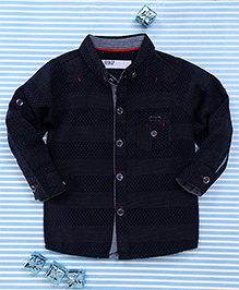 Gigilily Tiny Dot Print Full Sleeves Shirt - Navy Blue