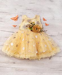 Eiora Beautiful Partywear Dress - Golden