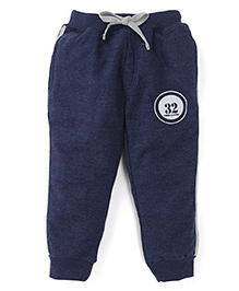 Olio Kids Track Pants With Drawstring Numeric 32 Print - Navy