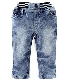 Olio Kids Stone Wash Full Length Jeans - Dark Blue