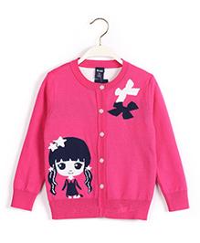 Tickles 4 U Girls Cardigan - Rose Pink