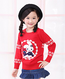 Tickles 4 U Bunny Sweatshirt - Red