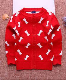 Tickles 4 U Bow Design Sweatshirt - Red