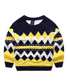 Tickles 4 U Boys Jacquard Pullover - Yellow