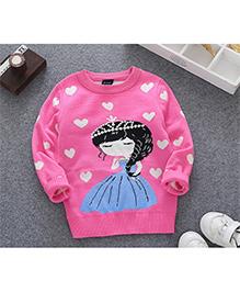Tickles 4 U Princess Design Pullover - Pink