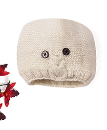 Mayra Knits Knitted Owl Cap - Cream
