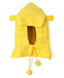Mayra Knits Hooded Cape - Yellow