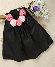 Shu Sam & Smith Garland of Roses Dress - Black