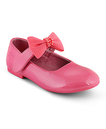 Kittens Shoes Ballerinas With Bow Applique - Pink