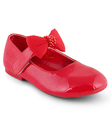 Kittens Shoes Ballerinas With Bow Applique - Deep Pink