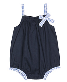 ShopperTree Singlet Onesie With Bow Applique - Blue