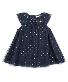 ShopperTree Sleeveless Frock Sequins Design - Blue