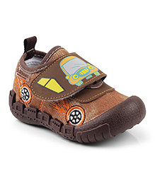 Kitten Shoes Casual Shoes Car Print - Brown