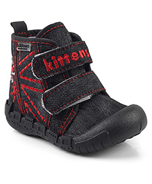Kitten Shoes Casual Shoes With Velcro Straps - Black