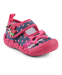 Kittens Shoes Casual Canvas Shoes With Ladybird Appliques - Pink Blue
