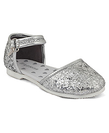 Kittens Shoes Sandals With Velcro Closure - Silver