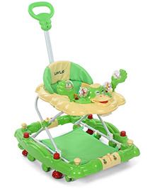 LuvLap Comfy Baby Walker With Rocker Green - 18231
