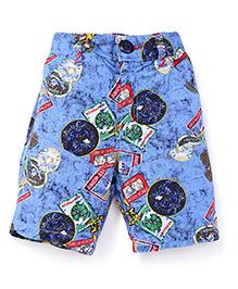 Jash Kids Jamaican Shorts Multi Print - Blue