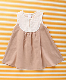 Mobichong Sleeveless Dual Tone Top - White & Beige