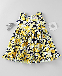 Mom's Girl Floral Print Dress - Black