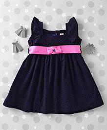 Mom's Girl Small Polka Dot Dress - Blue