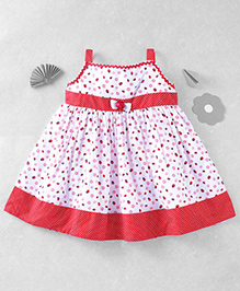 Mom's Girl Lady Bug Dress With Dots - White