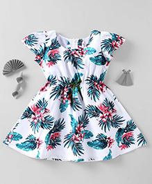Mom's Girl Floral Print Dress - White