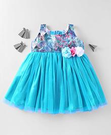 Mom's Girl Soft Netted Dress - Blue