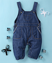 Happiness Stylish Denim Romper - Blue