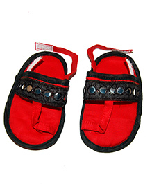 SnugOns Baby SlipOns With Mirror Work - Red