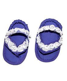SnugOns Baby SlipOns With Net Work - Violet