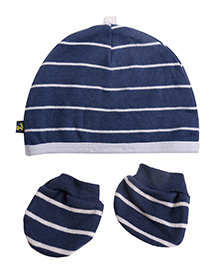 NeedyBee Cap & Mitten Set Pack Of 2 - Dark Blue
