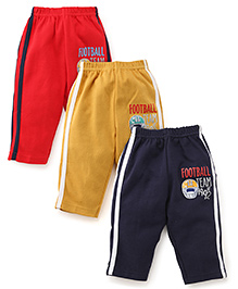 Zero printed Track Pants Set of 3 - Red Yellow Navy