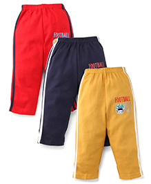 Zero Full Length Track Pants Pack of 3 - Blue Red Yellow