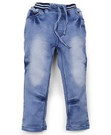 Olio Kids Stone Wash Full Length Jeans - Blue