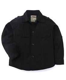 Olio Kids Full Sleeves Soild Colour Shirt - Black