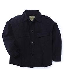 Olio Kids Full Sleeves Soild Colour Shirt - Dark Navy