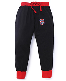 Olio Kids Printed Track Pants With Drawstring Sports 83 Patch - Black Red
