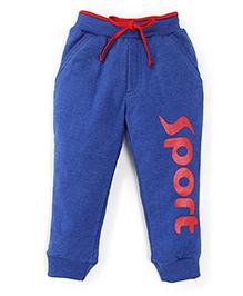 Olio Kids Track Pants With Drawstring Sport Print - Royal Blue