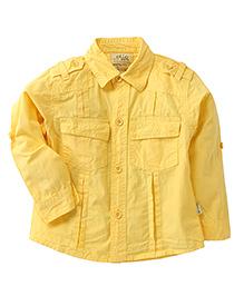 Olio Kids Full Sleeves Soild Colour Shirt - Yellow
