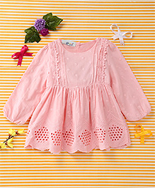 Smile Rabbit Flower Design Dress - Pink
