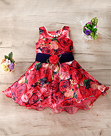 M'Princess Floral Print Beautiful Dress - Pink