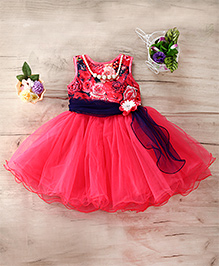 M'Princess Beautiful Floral Party Dress - Red