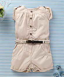 Ronoel Baby Romper With Belt - Beige