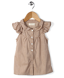 Ronoel Dot Print Dress - Copper Brown