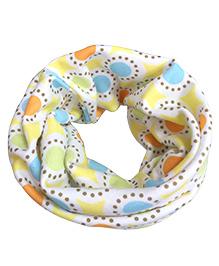 Milonee Spiral Print Ring Muffler - White